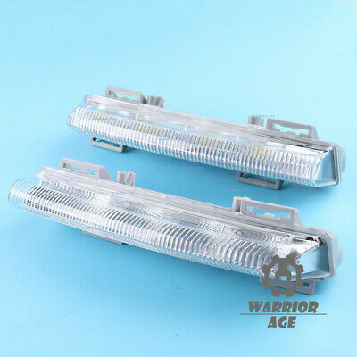 2 Pcs L & R Front DRL Fog Light  For Mercedes-Benz W204 W212 C250 C280 C350 E350