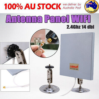 Antenna Panel 2.4 GHZ 14 DBI High Gain WiFi Wlan SMA Directional Long Range AFZ