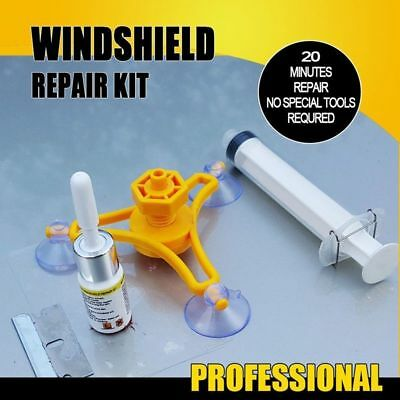 Windscreen Windshield Repair Tool Set DIY Car Wind Glass Kit For Chip Crack
