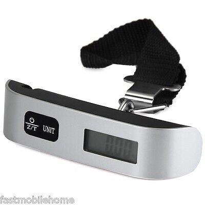 LCD 50kg Mini Luggage Electronic Scale Thermometer Capacity Digital Weighing Hot