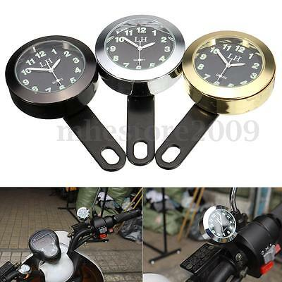 Waterproof Motorcycle Handlebar Dial Clock Mount For Harley Honda Suzuki Yamaha