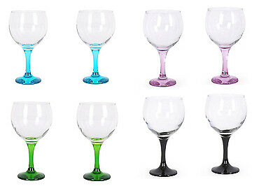 Box of 8 Gin and tonic cocktail balloon glasses 650ml multicolor foot £34.99!!