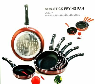 2 Piece Ceramic Induction Non-Stick Copper Cookware 24cm & 28cm Round Frying Pan
