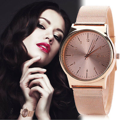 Women Fashion Watch Luxury Stainless Steel Band Analog Quartz Dresses Wristwatch