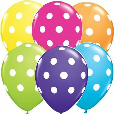 """12"""" inch Polka Dots Spots Spotty LATEX BALOONS Birthday Party Decoration Supplie"""