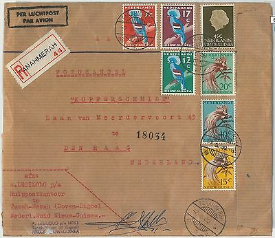 62503 - DUTCH NEW GUINEA - POSTAL HISTORY: REGISTERED COVER from TANAHMERAH 1959