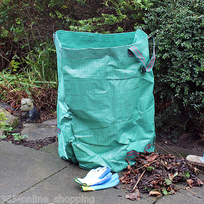 Large Heavy Duty Garden Waste Bag 270LTR 65KG Load Strong Reusable Durable Sack