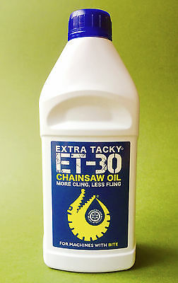 1Litre XTRA TACKY CHAINSAW OIL Chain Oil Guide Bar Pump for all Saw Makes.100Cst