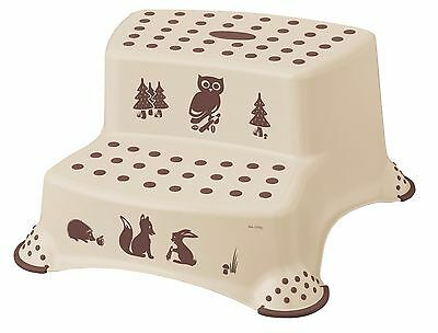 Forest Friends Children's Toilet Training 21cm Tall Double Step Stool (Coffee)