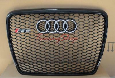 DFC6RS63 Griglia Frontale Calandra Audi A6 C6 4F 05-10 RS6 look nero TuningShop