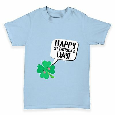 Twisted Envy Cute Clover St Patrick's Day Baby Toddler Funny T-Shirt