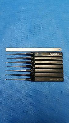Lot of 7, Codman Karlin Cervical Curettes 46-3153 etc... OB/GYN, Surgical