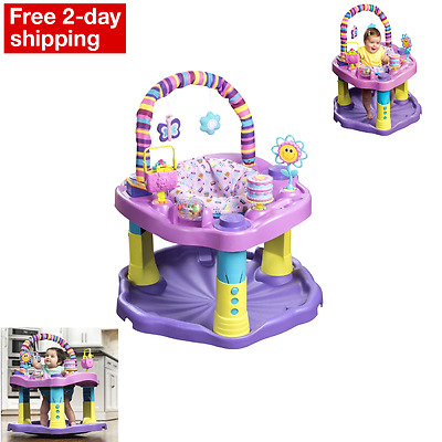 NEW Baby Bouncer Jumper Exersaucer Learning Activity Center Girl Child Exercise