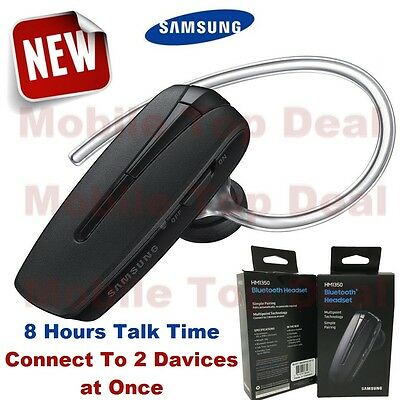 Samsung HM1350 Universal Bluetooth Headset Hands Free Black Simple Pairing  NEW