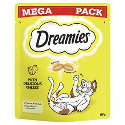 6x Dreamies Cat Treats with Delicious Cheese Mega Pack  180g 327988