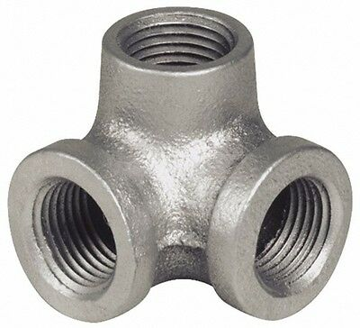 """3/4"""" Side Outlet Elbow DEG 90°GALVANIZED MALLEABLE IRON fitting pipe npt"""