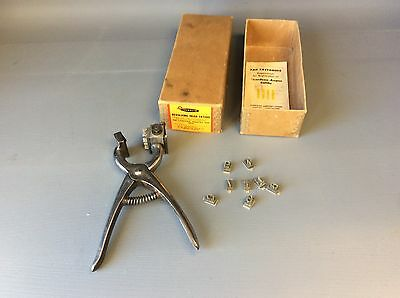 Vintage Franklin Revolving Head Ear Tattooing Tool Livestock Cattle Tattoo