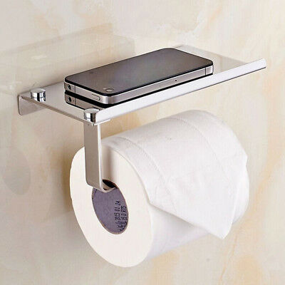 Polished Chrome Bathroom Toilet Paper Holder Tissue Bar Hanger Stainless Steel