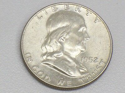 Uncirculated 1952 D Franklin Silver Half Dollar