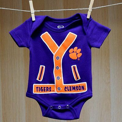 Clemson Tigers Baby Infant Onesie Creeper Bodysuit (FREE SHIPPING) 0-3 months