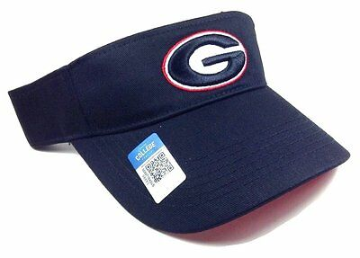 0631d0c6a79 Black University Of Georgia Bulldogs Visor Hat Cap Retro G Logo Dawgs  Adjustable