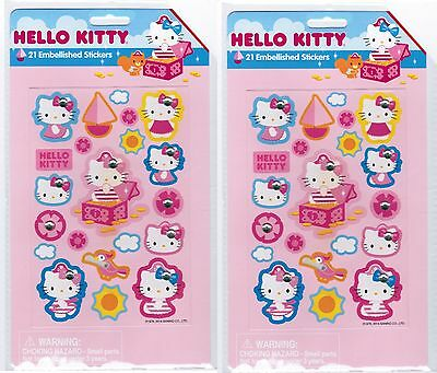 SANRIO Hello Kitty Pirate Treasure Embellished Rhinestone Stickers! 2 PACKS!