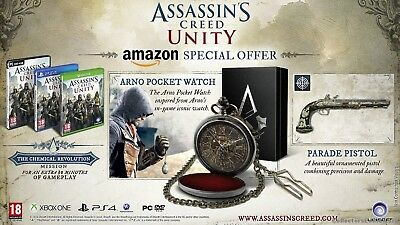 Assassins Creed Pocket Watch - Exclusive Limited Collectors Edition Origins