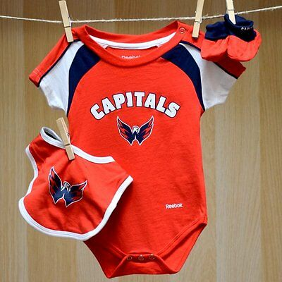 Washington Capitals Baby Infant Bib Booties Set (FREE SHIPPING) 24 months