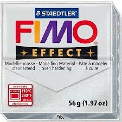 Fimo Effect Polymer Clay  - Metallic Silver No 81