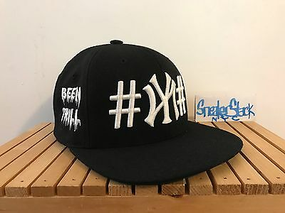 a1c04543df9 Been Trill X 40 Oz NYC Embroidered Hashtag Logo Black Snapback Hat Kanye O S