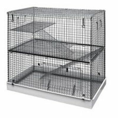 Lazy Bones Wire Rodent Cage Double Storey 72x45x68cm LBSA11