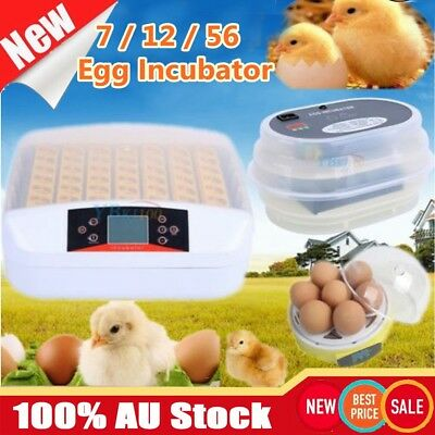 7 12 24 56 Egg Incubator Automatic Digital LED Turning Chicken Duck Poultry Bird