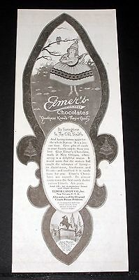 "1919 Old Magazine Print Ad, Elmer's ""new Orleans"" Chocolates, Goodness Knows!"