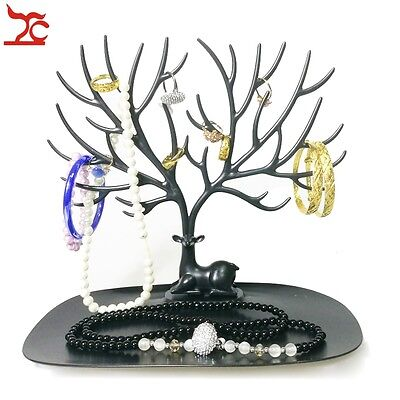 Plastic Jewelry Display Tree Earring Holder Necklace Hanging Rack Bracelet Stand