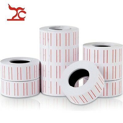1/2/10 Rolls White Paper Price Tag label Mark Sticker for MX5500 Price Tag Gun