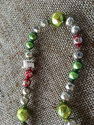 """Vintage Mardi Gras Necklace 5/16"""" and  1/2""""  Faceted Beads Mercury Glass Garland"""