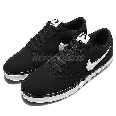 Nike SB Check Solar CNVS Canvas Black White Mens Skateboarding Shoes 843896-001