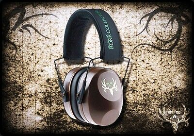 Bone Collector Hawken Brown Ear Muffs Shooting Hearing Protection Adjust NRR29