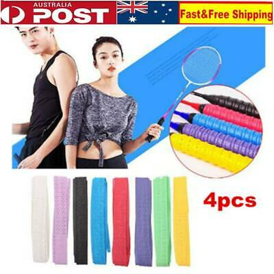 4 X Anti-slip Racket Over Grips Bat Tennis Badminton Squash Tape Grip Sweatband
