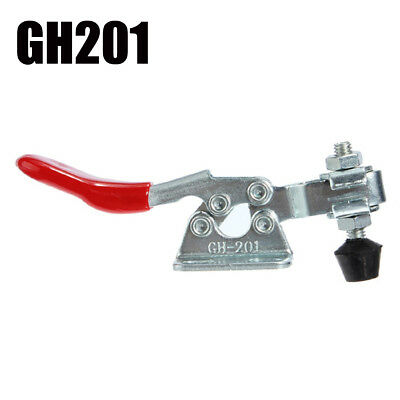 1PC 27Kg 60 Lbs Antislip Covered Handle Horizontal Hand Tool Toggle Clamp 201A