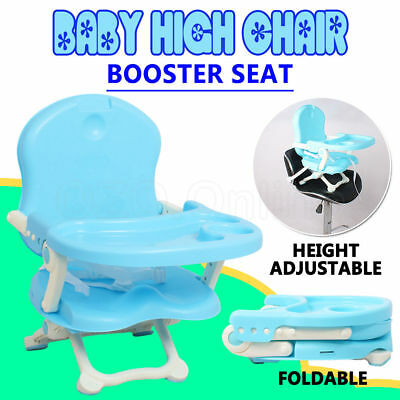 Portable Baby Toddler High Chair Highchair Booster Seat Tray Feeding Travel Fold