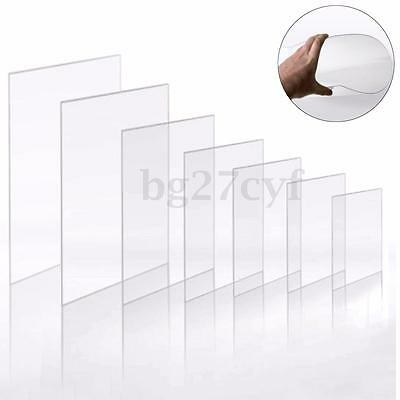 Clear Acrylic Perspex Sheet Crafts Arts Photo Frame Easy Cut 1.2mm Thick