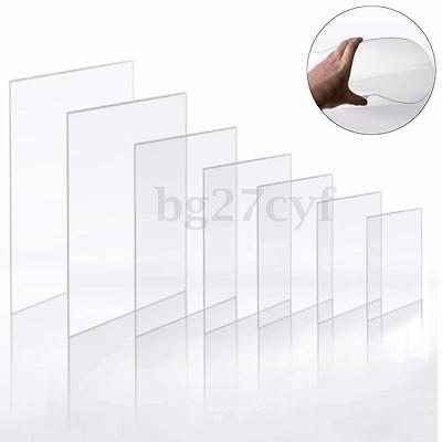 Clear Acrylic Sheet Crafts Arts Photo Frame Easy Cut 1.2mm Thick