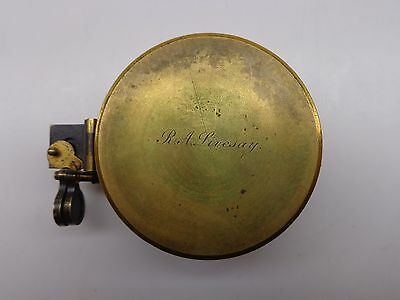 Antique 1890 Elliot Bros Brass Compass RA LIVESAY Lieut-Colonel Royal Navy Major