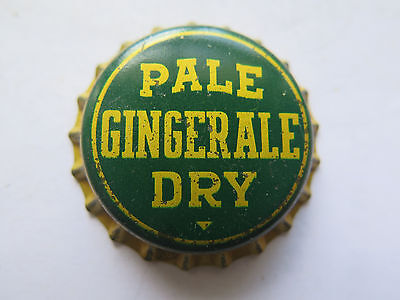 Crown Seal Bottle Cap Pale Dry Ginger Ale Large Triangle Under Dry