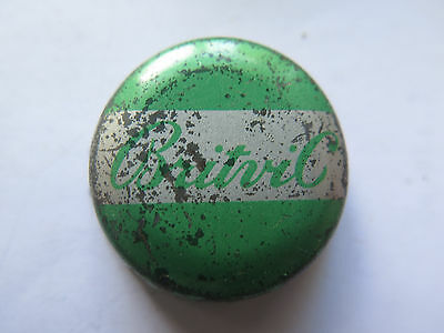 CROWN SEAL BOTTLE CAP BRITVIC GREAT BRITAIN SOFT DRINK GREEN USED c1960s