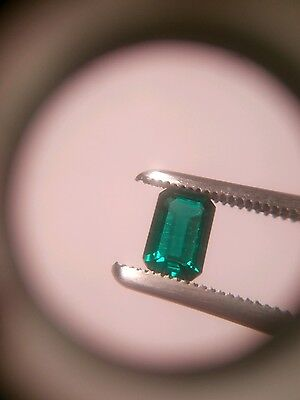 6x4mm 0.48ct Emerald cut Lab Created Emerald