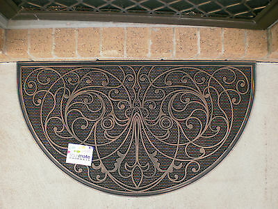 Copper Finished Large Half Round Rubber Door Mat
