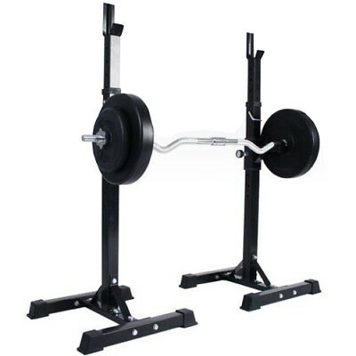 Barbell Squat Rack Storage Stand Workout Exercise Machine Smith Gym Equipment
