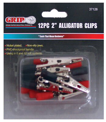 "Grip On Tools 12 PC 2"" ALLIGATOR CLIP SET 37126"